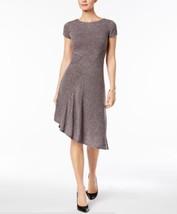 Ellen Tracy Women's Petite Marled Asymmetrical-Hem Sweater Grey /Brown  ... - $20.79+