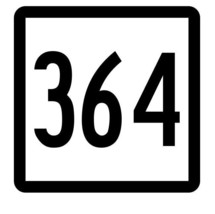 Connecticut State Route 364 Sticker Decal R5256 Highway Route Sign - $1.45+