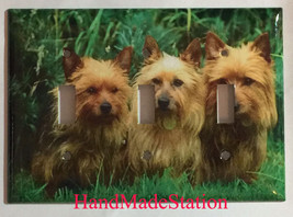 Australia Terrier Dog Light Switch Power Duplex Outlet Cover Plate Home decor image 3