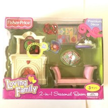 Fisher Price Loving Family 2 in 1 Seasonal Room Doll Furniture Christmas AS IS - $28.85