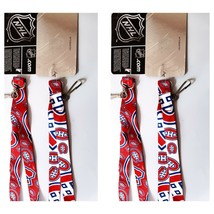 2 pack MONTREAL CANADIENS LANYARD KEYCHAIN DOUBLE SIDED WITH CLIP NHL LI... - $9.79