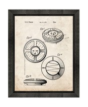 Simon Game Patent Print Old Look with Beveled Wood Frame - $24.95+