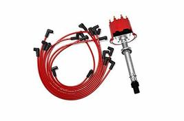 A-Team Performance SBC BBC EFI TBI Distributor and Spark Plug Wires Compatible W