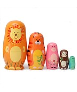 Dolls Nesting Matryoshka Wooden Russian Set 5 Hand Painted Gift Toy 5pcs... - $11.14