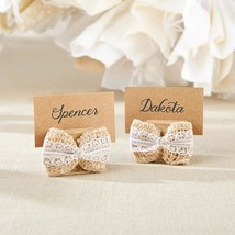 Burlap Bow Place Card Holder (4-Sets of 6)  - $34.99