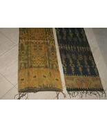 Hand spun Hand woven Intricate Sumba Hinggi Warp Ikat Tapestry Dye Resis... - $85.49