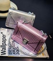 Lovely Women Shinny Metallic Handbag Clutch Evening Party Shoulder Bag S... - $27.99