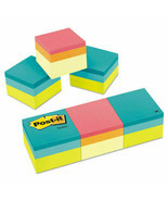 NEW Post-it Mini Cubes 2 x 2 Canary Yellow/Green Wave 400-Sheet 3/Pack - $13.20