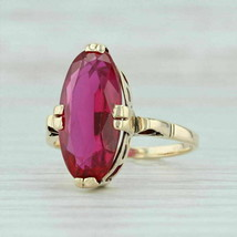 2.5 Ct Oval Cut Red Ruby 14k Yellow Gold Finish Solitaire Engagement Ring - $69.07