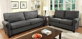 Hensel Collection CM6760GY-SL 2-Piece Living Room Set with Stationary So... - $1,380.13
