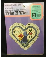"Vintage 1987 Trim'N Wire - Amish Cross Stitch Kit ""A-mish You"" - NEW - 5... - $11.83"