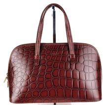 Authentic FURLA Crocodile Embossed Leather Alma Hand Bag Handbag Purse I... - $137.61