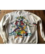 Disney Mickey Mouse Vintage Jerry Leigh Skiing Sweatshirt XL Ski USA NWT... - $39.32