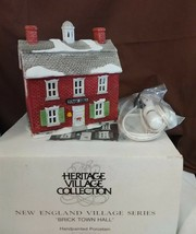 Dept 56 New England Village 1986 BRICK TOWN HALL 65307 One Of The Origin... - $19.95