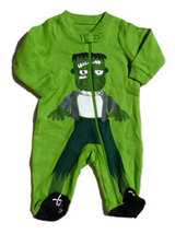 Faded Glory Baby Boys Frankenstein Halloween Footed Sleeper  - $12.00