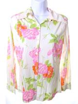 Vintage Medium Small Retro Disco Shirt Button Down Long Sleeve Jill Mode... - $14.00