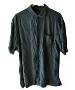 TOMMY BAHAMA MEN'S SHORT SLEEVE BUTTON DOWN SILK TROPICAL SHIRT BLUE SIZ... - $19.79