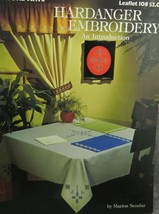 Hardanger Embroidery Leisure Arts 108 Marion Scoular needlework booklet  - $5.63