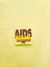 Vtg Aids Walk Los Angeles 1992 button pin advertising - $8.91