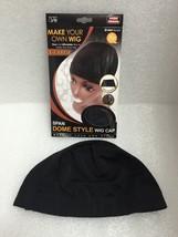 QFITT XL SPANDEX DOME CAP MAKE YOUR OWN WIG ULTRA STRETCH DOME CAP BLACK #5027