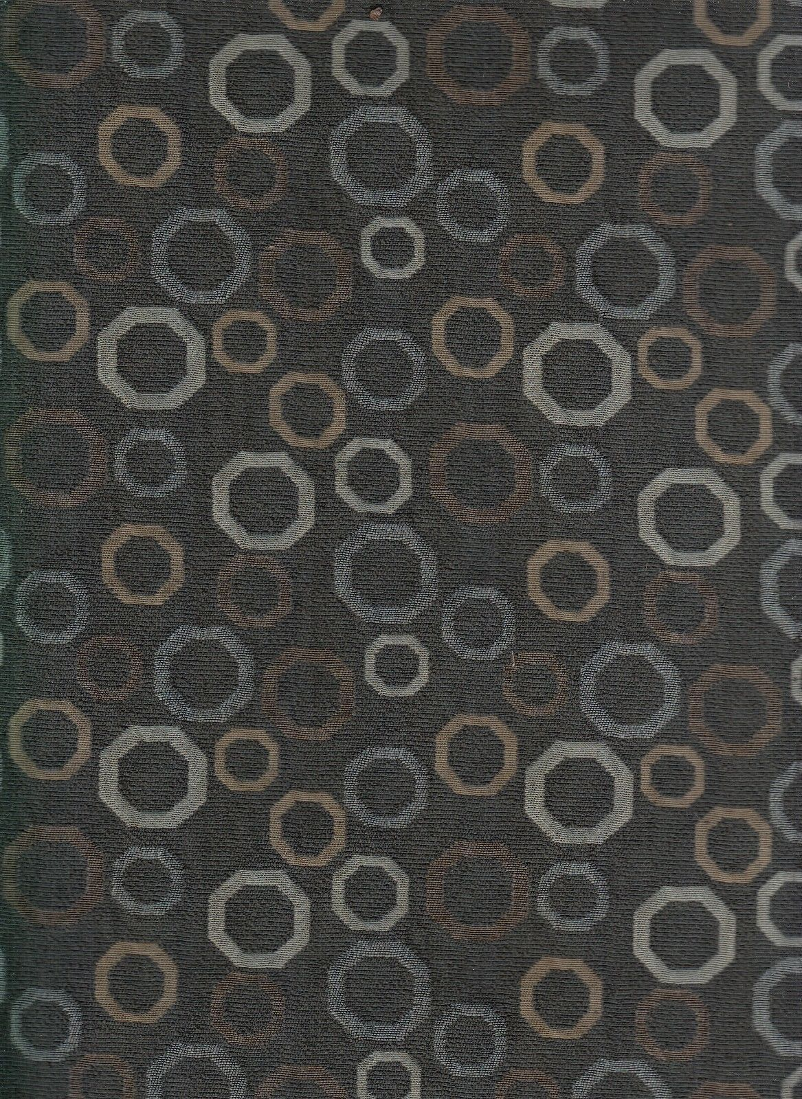 7 yards Mokum Upholstery Fabric Stop Geometric Charcoal 7171-083 RC6