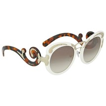 New Prada Minimal Baroque Sunglasses Ivory Brown Havana Gold PR07TS VAG-0A7 - $204.45