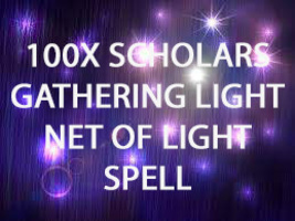 100X 7 Scholars Gathering Light Net Of Light Extreme Magick Ring Pendant - $99.77