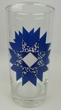 (12) Contemporary Blue & White Ice Cube Starburst Glass Hi Ball Tumbler ... - $46.74
