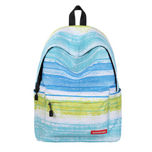 large capacity lady creative fashion blue stripe pattern waterproof shou... - $28.00
