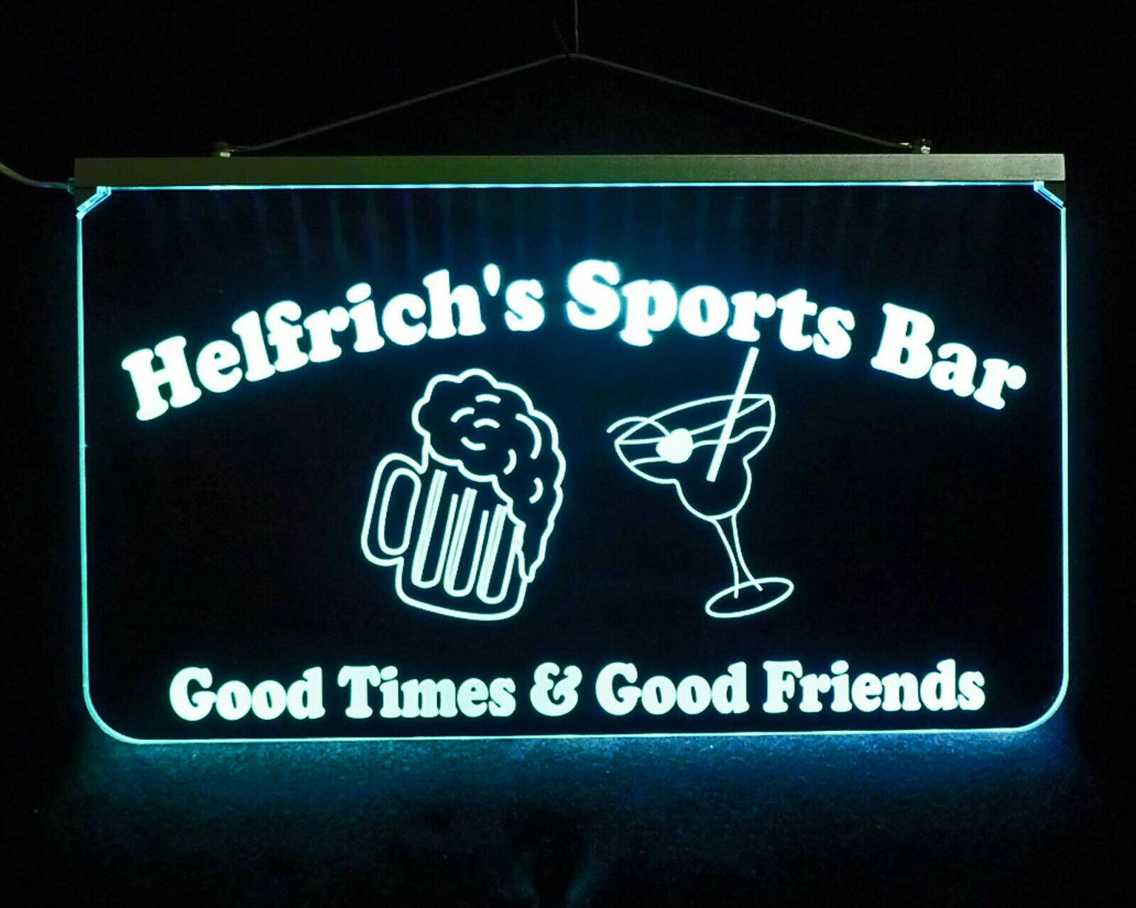 Custom LED Sign, Man cave sign with Beer Mug and Martini Glass - Home Bar image 5