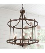 LOG BARN Farmhouse Chandelier, Dining Lighting Fixtures Hanging in Rusti... - $197.99