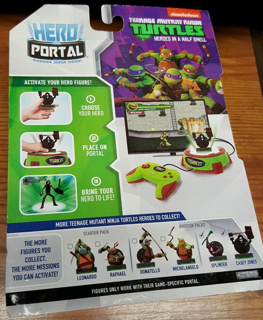 Jakks Pacific Hero Port 2 pack TMNT Casey Jones and Splinter New