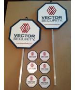 2 REFLECTIVE VECTOR Security Staked Yard Signs + 6 Door/Window Deals - $43.99