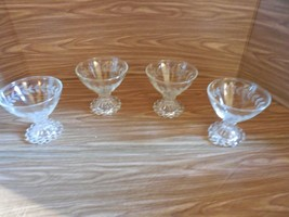 4 Anchor Hocking Boopie Etched Sherbets - $12.86