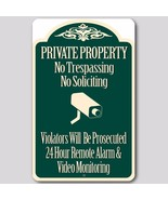 2 Lot Private Property No Trespassing No Soliciting Video Surveillance S... - $22.72