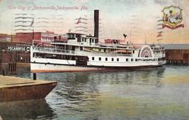 Steamer City of Jacksonville Florida 1911 postcard - $6.44