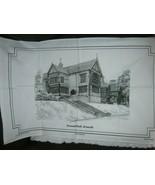 Bramall Hall Bramall Cotton Tea Towel Cotswold Rural Crafts - $11.70