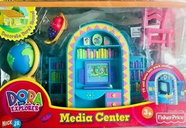 Fisher Price Dora The Explorer Talking Dollhouse MEDIA CENTER NEW  - $44.54