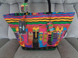 Laurel Burch Cats Beach Tote Bag Pool Canvas Colorful and Waterproof  - $59.99