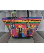 Laurel Burch Cats Beach Tote Bag Pool Canvas Colorful and Waterproof  - £43.36 GBP