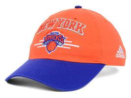 New York Knicks adidas NBA Basketball 2 Tone Adjustable Slouch Cap Hat - $18.99