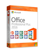 Microsoft Office Professional Pro Plus 2016 License Key and Digital Down... - $9.99