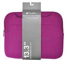 """NEW 13.3"""" Purple Neoprene Laptop Sleeve Zipper Storage Pocket Scratch-re... - $19.99"""
