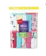 Hanes Girls' Briefs 10 Pack No Ride Up Tagless Breathable Cotton Fun Pri... - $13.95
