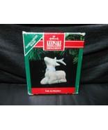 """Hallmark Keepsake """"Folk Art Reindeer"""" 1991 Wood Ornament NEW - $3.47"""