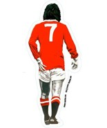 George Best Laminated vinyl car decal Manchester Utd 20x8.5cm Northern I... - $9.41