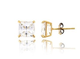 Colors of Life 10kt Yellow Gold 1 ct CZ Earring... - $49.50
