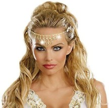 Dreamgirl Glittering Rhinestone Gold Headpiece Halloween Costume Accessory - $9.39
