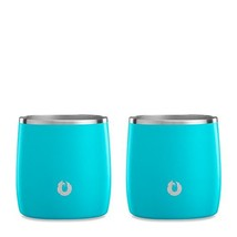 SNOWFOX Insulated Stainless Steel 11.5 oz. Rocks Glass, Set of 2, Teal - $29.60