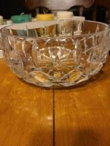 "Gorham Crystal Lady Anne Pattern Nice Heavy Salad Serving Bowl 9 1/4"" x 4 1/4"" - $25.00"